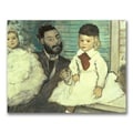 Trademark Fine Art 'Comte Le Pic and his Sons' 35in. x 47in. Canvas Art