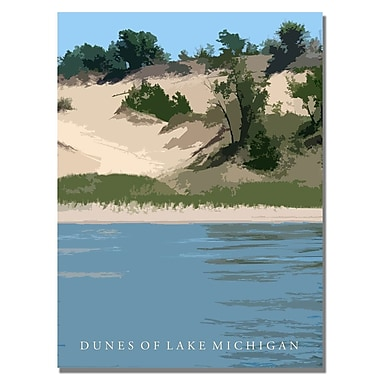 Trademark Fine Art 'Dunes of Lake Michigan II' 24