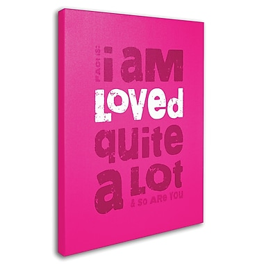 Trademark Fine Art 'Loved a Lot III' 14