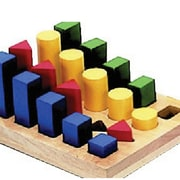 "Guidecraft 7"" X 8 1/2"" Colored Geo Sorter"