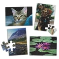 S&S® E-Z™ 17in. X 12in. 12 Pieces Puzzle Set A, Water Lilies/Puppy/Mountains/Cat
