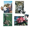 S&S® E-Z™ 17in. X 12in. 12 Pieces Puzzle Set B, Cheetah/Giraffe/Flower/Tree