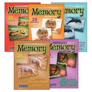 S&S® Animal Set Photographic Memory Card Game