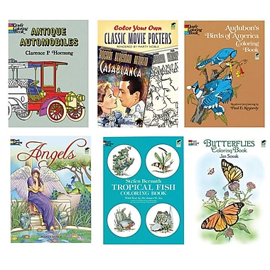 S&S® Coloring Book Set, 6/Pack