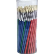 S&S® Bristle Brush Assortment Pack, White, 72/Pack