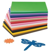 "S&S AC822 Assorted EVA Foam Sheet, 12"" x 9"", 78/Pack"