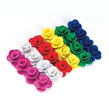 S&S® 1in. 3-D Foam Rose Flowers, Assorted
