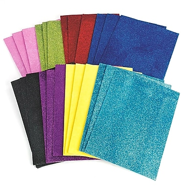 Darice® 8in. X 11in. Sticky Back Glitter Foam Sheets, 24/Pack