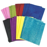 "Darice® 8"" X 11"" Sticky Back Glitter Foam Sheets, 24/Pack"