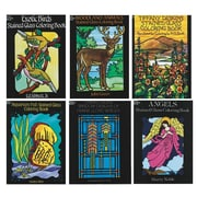 "S&S BK1352 Multicolor Stained Glass Coloring Books, 11"" x 8.5"", 6/Pack"