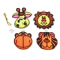 Craft EXpress Zoo Animal Sun Catchers Craft Kit, 12/Pack