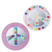 Craft EXpress Peace Sign Mirrors Craft Kit, 48/Pack