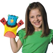 "S&S® Color-Me™ 9"" Fabric Animal Hand Puppets"