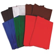 "S&S FA3440 Assorted Felt Sheet, 36"" x 36"", 12/Pack"