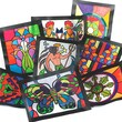 "S&S GA3000 Multicolor Stained Glass Windows, 11"" x 8.5"", 16/Pack"
