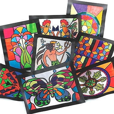 S&S GA3000 Multicolor Stained Glass Windows, 11