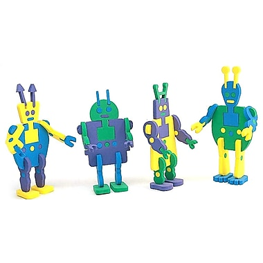 Geeperz™ Super Foam Alien Robots Craft Kit, 12/Pack