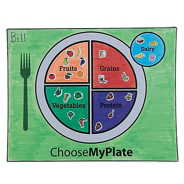 Geeperz™ MyPlate Coloring Placemats Craft Kit, 48/Pack
