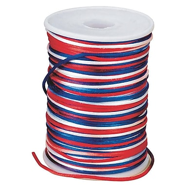S&S® 144 Yard Patriotic Rattail Cord, Red/White/Blue