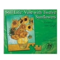 S&S® 22in. X 17in. 24-Piece Jigsaw Puzzle, Van Gogh Sunflowers