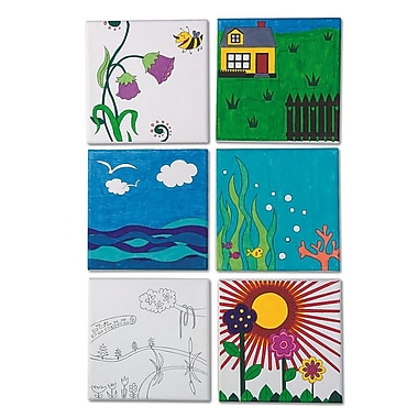 S&S® Designer Canvas Board, 12/Pack