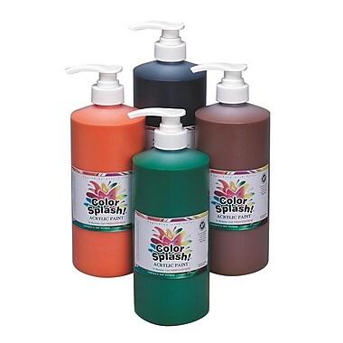 Color Splash® 32 oz. Acrylic Paint Set With Pump, Orange/Green/Brown/Black
