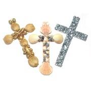 S&S® Shell Crosses Craft Kit, 24/Pack