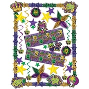 S&S SL1764 Scalloped Mardi Gras Decorating Kit, Multicolor