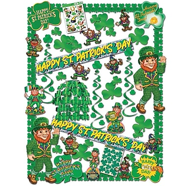 S&S SL7775 Scalloped St. Patrick's Day Decorating Kit, Multicolor
