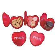"""S&S® """"I Love Bingo"""" Pill BoX, Red, 12/Pack"""