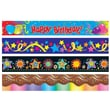 S&S® 39' X 2-1/4in. Party Time Bulletin Board Deco Trim Pack