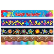"S&S SL8956 39' x 2.25"" Straight Party Time Bulletin Board Trimmer, Multicolor"