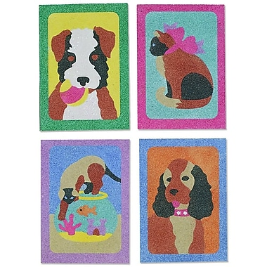 S&S® 5in. X 7in. Dogs & Cats Sand Art Board, 12/Pack