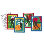 "S&S® 5"" X 7"" Sports Sand Art Board, 12/Pack"