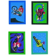 "S&S® 5"" X 7"" EXtreme Sports Sand Art Board, 12/Pack"