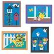 "S&S® 5"" X 7"" Garden Sand Art Board, 12/Pack"