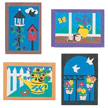 S&S® 5in. X 7in. Garden Sand Art Board, 12/Pack