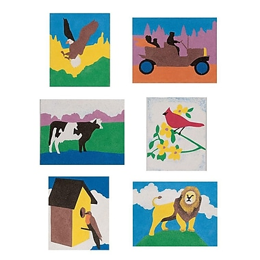 S&S® 8 1/2in. X 11in. General Theme Sand Art Board, 12/Pack