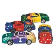 """S&S SY655 Multicolor Foam Race Car, 7.25"""" x 2.25"""" x 2"""", 24/Pack"""