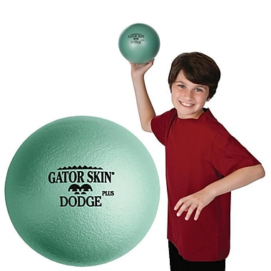 Gator Skin® Dodge Plus Middle School Dodgeball, 6 1/2in.(Dia.), Jade Green