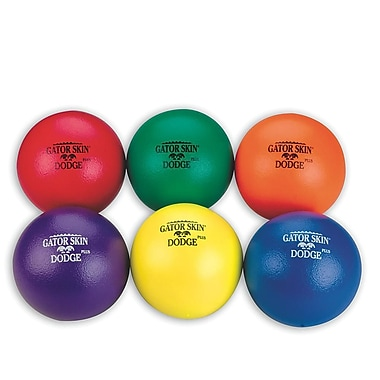 Gator Skin® Dodge Plus Middle School Dodgeball, 6 1/2in.(Dia.), Assorted, 6/Set