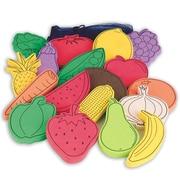 S&S® Flat Foam Foods, Fruit and Veggies, 18/Set