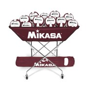 Mikasa Hammock Style Volleyball Cart, Maroon