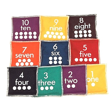S&S® Number Bean Bag, 10/Set