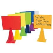 "S&S® 12"" 2-in-1 Message Cone, 6/Set"