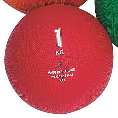 S&S® Rubber Medicine Ball, 2.2 lbs., Red