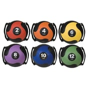 Champion Sports Rubber Ultra Grip Medicine Ball, 4 lbs.