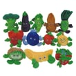 S&S® Fruit and Veggie Plush Bean Bag Characters, 12/Set