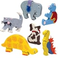 S&S® Unfinished Animal Puzzles, 6/Pack
