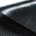 Guardian CleanStep Outdoor Rubber Scraper Mat, 60in. x 36in., Black
